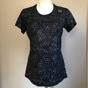 Under Amour Women's Black Shirt Short Sleeve Sz M